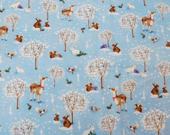 Christmas Fabric, By The Yard, P&B Textiles, Christmas Village Collection, Sewing Crafting Fabric, Novelty Fabric, Quilting Fabric, Deer