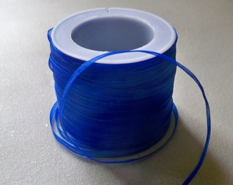 """Royal Blue Organza Ribbon-1/8""""-10 YDS"""
