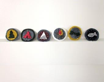 Adventure Badges // Choose your own // felt & jean pin