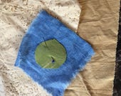 Natural Dyed Scrap Pack: Black Walnut & Fustic Shibori Cotton Linen Eco-Dyed Artists Quilters Mixed Media