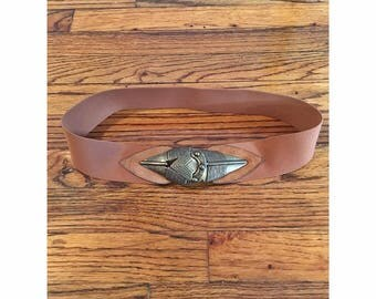 Brown Ornamemtal Stretchy Belt