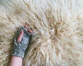 OOAK Sustainably Knit Sheeps Wool + Alpaca Blend Fingerless Gloves | Handwarmers | Knit Gloves | Mittens