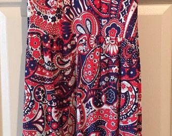 Sexy 1960s paisley dress