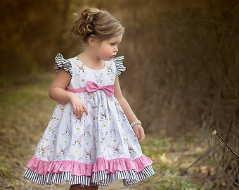 Cottontail Easter Dress-- size 12mos.-8