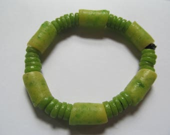 Lime Green Recycled Glass Bracelet