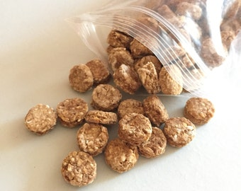 Wheat Free Apple Buttons - Bite Sized Training Treats for Dogs - Great for Small Dogs - Itty Bitty Buttons - All Natural