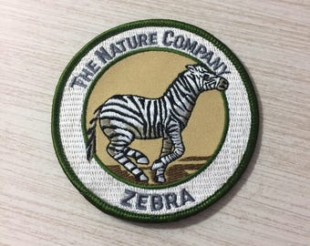 The Nature Company Embroidered Zebra Patch ~ Sew On Patches ~ Animal Patches ~ Exotic Animal Patch ~ Safari ~ Animals Of Africa