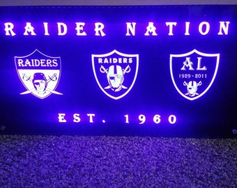 Raider Nation Led Box Sign 20 x 10