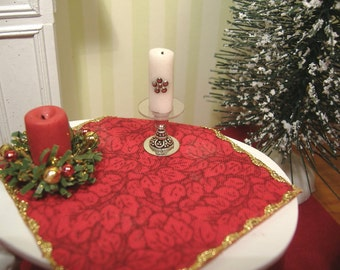 Miniature Dollhouse Holiday Candle