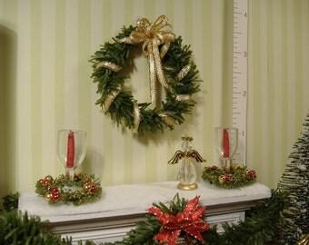 Dollhouse Miniature Christmas Wreath