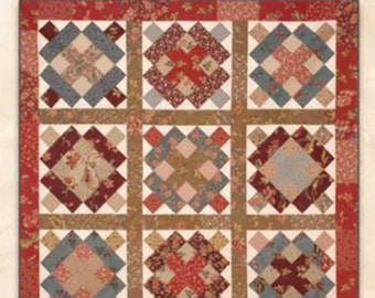 """SALE Roadshow Quilt Pattern, RQC#458 by Schnibbles Miss Rosie's Quilt Co., 32""""x32"""" , Easy Blocks"""
