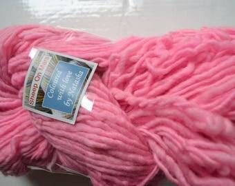 chunky yarn, bulky yarn, thick and thin hand dyed yarn half a pound, 250gr