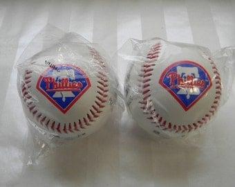 2 Philadelphia PHILLIES Team Stars Baseballs, Fotoballs, Unopened Sealed Wrapper, 1994