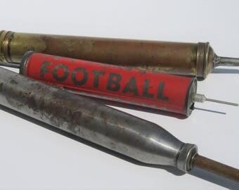Vintage Air Pump, Brass Grease Gun, Steel Grease Gun: 3 Industrial Metal Pumps,  Instant Collection