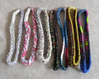 Crochet Colorful Wool mix Headbands or Your any other yarn Custom Colors (choose 1)