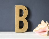 Vintage Shop letter B, Antique signage, Industrial Letter