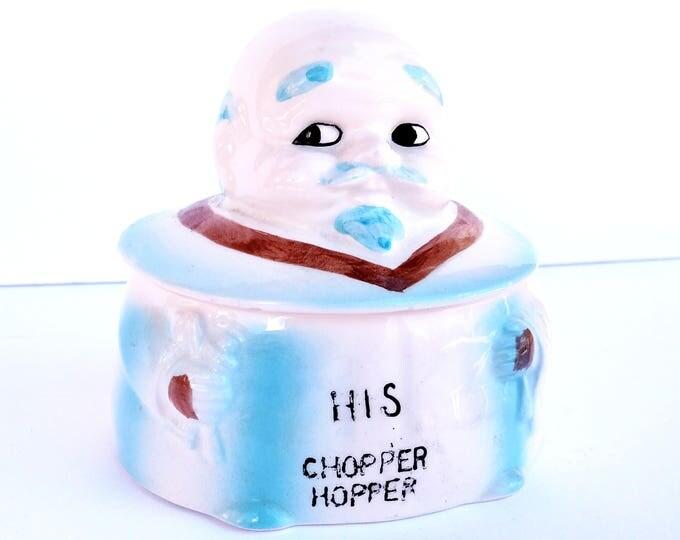 Vintage Kitsch Ceramic Chopper Hopper for Dentures