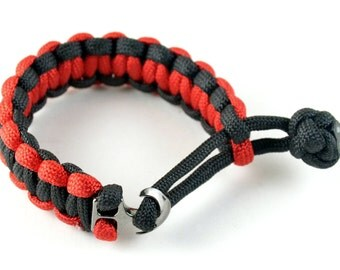 Paracord bracelet 2-tone with anchor clasp.