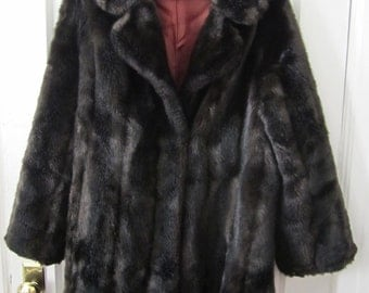 Chocolate Brown Faux Fur Coat