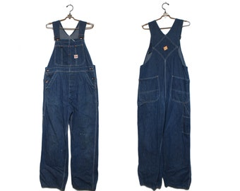 MED | 1950's Pay Day Square Bak Denim Overalls