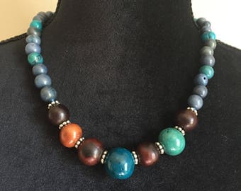 Rain Forest Necklace/ Eco Friendly Jewelry/ Tagua Jewelry, Mother's day