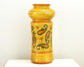 Bitossi Pottery Vase Aldo Londi Italy