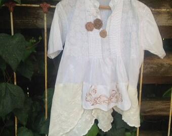 romantic summer white resort bikini beach cover up shabby vintage linens gypsy rustic boho lace mori bahama shirt malibu