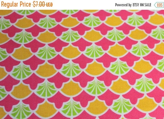 JoAnn Fabrics,High Society Modkids Fabric,Scallop Fabric,100% Cotton,Quilt Fabric,Apparel Fabric,Craft Fabric,Fabric By The Yard