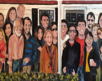 My Crazy Family  Original Oil Painting by Mar Kurland  15 x 30 NFS  Example