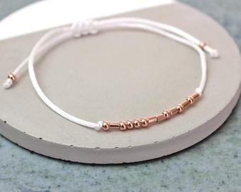 Lucky Morse Code Bracelet