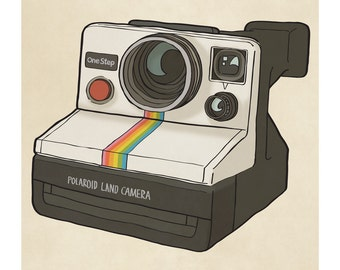 Polaroid Camera - Illustration Print