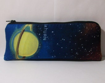 """Pipe Pouch, Astronomy Bag, Pipe Case, Space Pipe Bag, Zipper Bag, Padded Pipe Pouch, Hippy, Stoner Gift, 420, Padded Zipper Bag - 7.5"""" LARGE"""