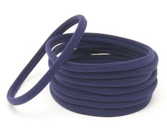 Wholesale Nylon Headbands, Nylon Headbands, Navy, Soft Headbands, headbands, One size fits all, Skinny Headbands, Headband supplies