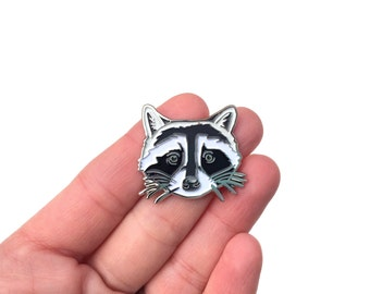 Raccoon Enamel Pin - Good Natured Art