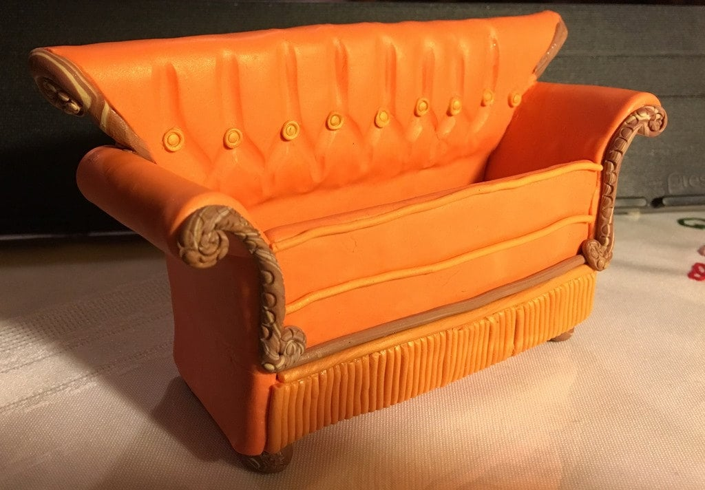Beetlejuice couch lady hard enamel pin retro 80s horror