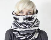 Unisex winter scarf, tribal scarf, scarves men, scarves women, Snock® cowl scarf, oversized cowl, geometric scarf