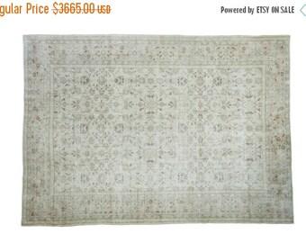 10% OFF SALE 7x10 Distressed Oushak Carpet