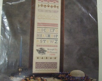 Counted cross stitch sampler  kit The Embroidery Studio Sampler I by Pat Roxendal  factory sealed