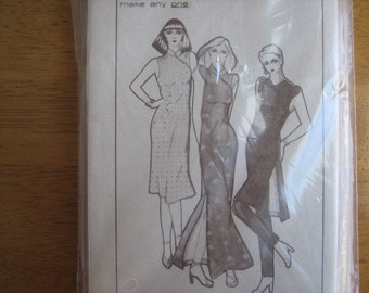 Pauloa Pattern 1012 B Misses' Dress     1970's/1980's    Uncut
