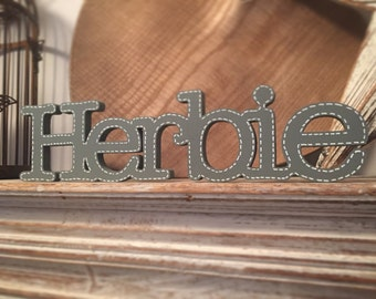 Standing Wooden Letters/Names - Typewriter font - price is per letter - 10cm high