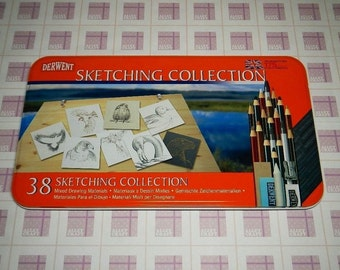 Derwent Sketching Collection - 38 Mixed Drawing Materials