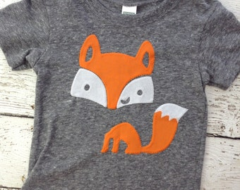 Fox, cute kids shirt, fox shirt, woodland animal, forest animal, children's clothing, boys tshirt, tshirt