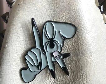 Soft enamel Los Angeles hands pin