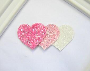 Glitter Heart Hair Clip - Valentine Hair Clip - Heart Hair Clip - Valentine Clippie - Heart Clippie - Girls Hair Clip