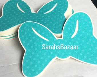 1 Count Teal Dots Bow