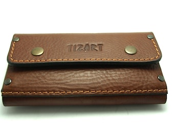 NEW Brown cowhide wallet for all Phone models genuine leather cell phone case with pocket card ID with belt loop gift ideas personalized