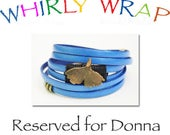 Reserved for Donna, brass ginkgo, handmade by local artist, sapphire blue leather, easy, secure brass magnet, waxed linen woven binding