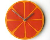 Objectify Orange Fruit Wall Clock