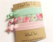 Hair Tie Bridesmaid Gift - I Can't Say I Do Without You - Will you be my Bridesmaid Gift - Bridesmaid Proposal - Bridal Party Gift