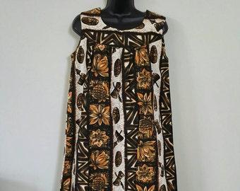 Ui Maikai 1960 vintage tiki Hawaiian dress